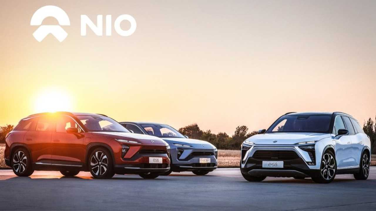 NIO cars: from left ES6, EC6, ES8