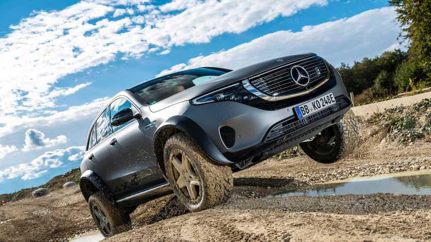 Mercedes EQC 4x42, il SUV elettrico per l'offroad si mostra in video