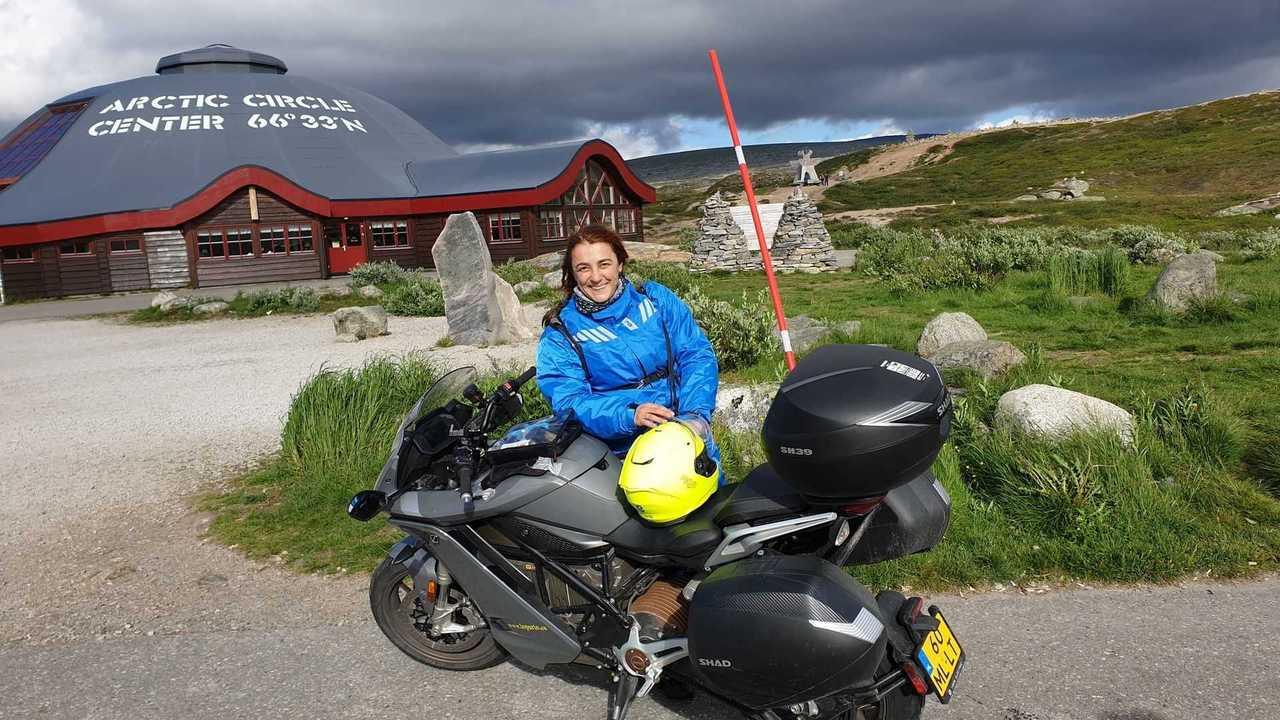 Zero Motorcycles SR/S Miriam Orlandi Capo Nord 2020