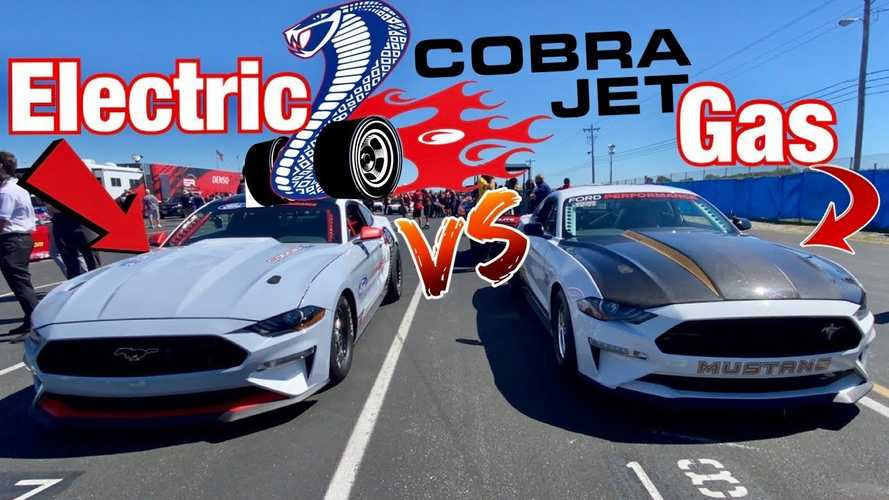 Mustang Cobra Jet Drag Races Itself In Combustion Engine Vs Electric Duel