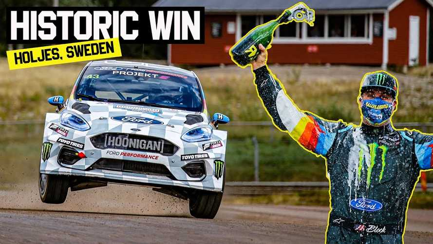 Watch Ken Block win the first ever fully electric rallycross race