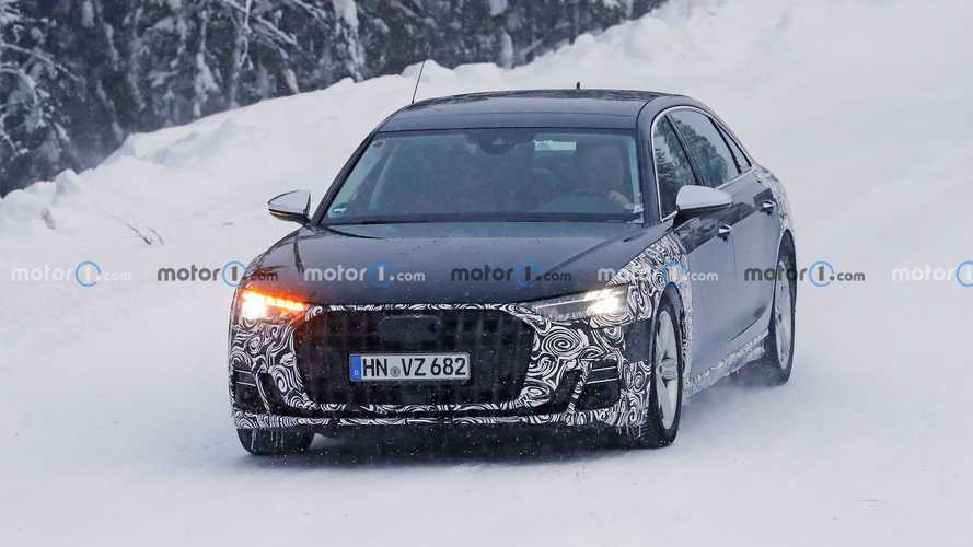 2021 Makyajlı Audi A8 L Casus Fotoğraflar