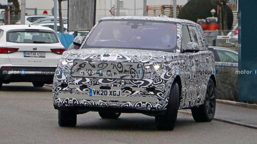Очередные шпионские фото нового Range Rover
