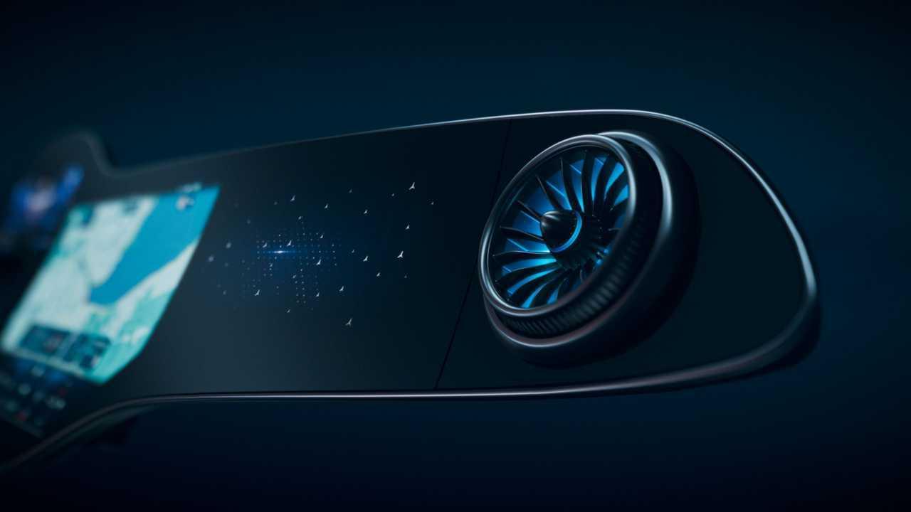 Вентиляционные отверстия Mercedes-Benz MBUX Hyperscreen