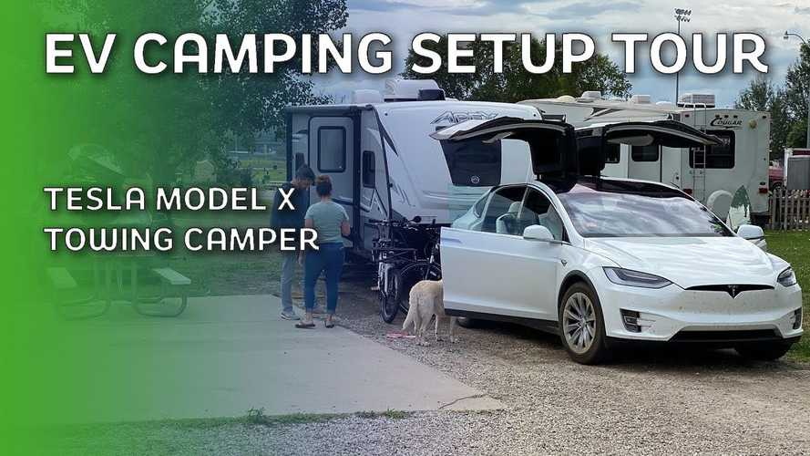 Tesla Camping Tour: We Explore This Family's Tesla Model X & Towing
