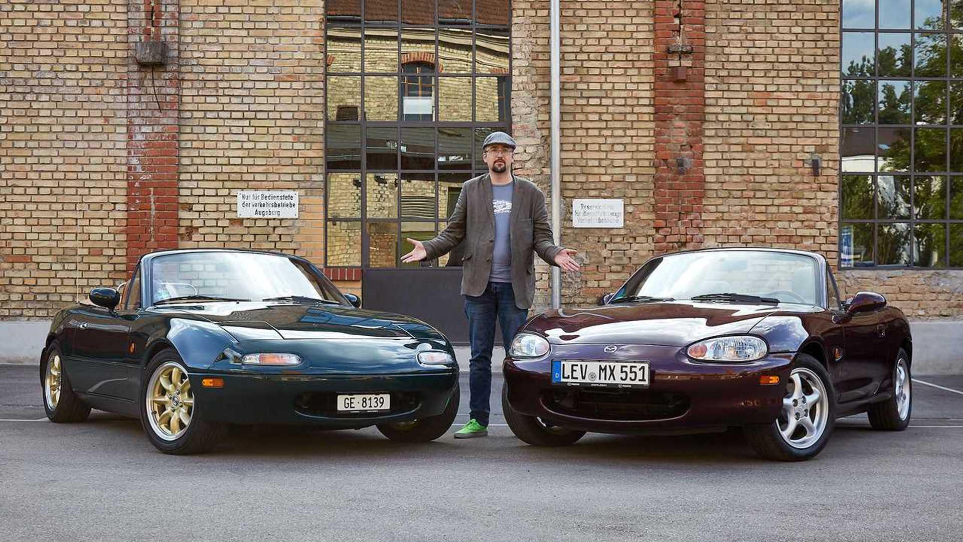 21 Jahre Mazda MX 21 Duell der Generationen