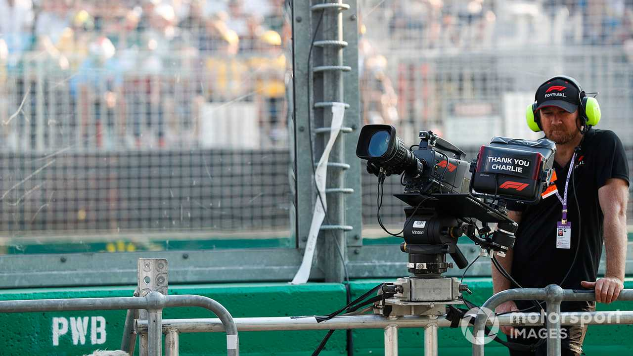 TV Camera operator at Australian GP 2019