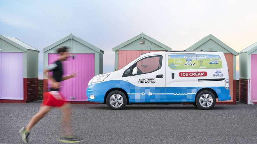 Nissan al CES con l'e-NV200 furgone dei gelati