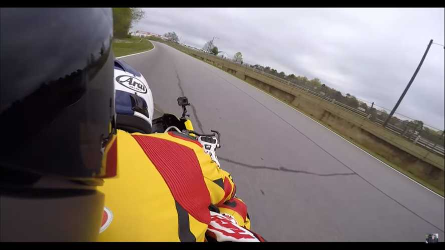 Car Reviewer Rides Pillion On Superbike