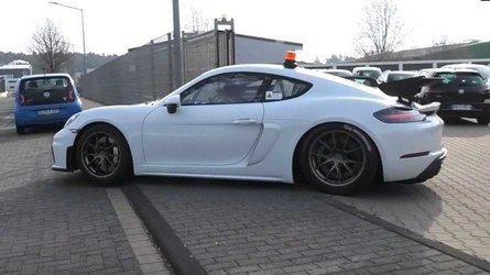 Porsche 718 Cayman GT4 Clubsport kameralara takıldı