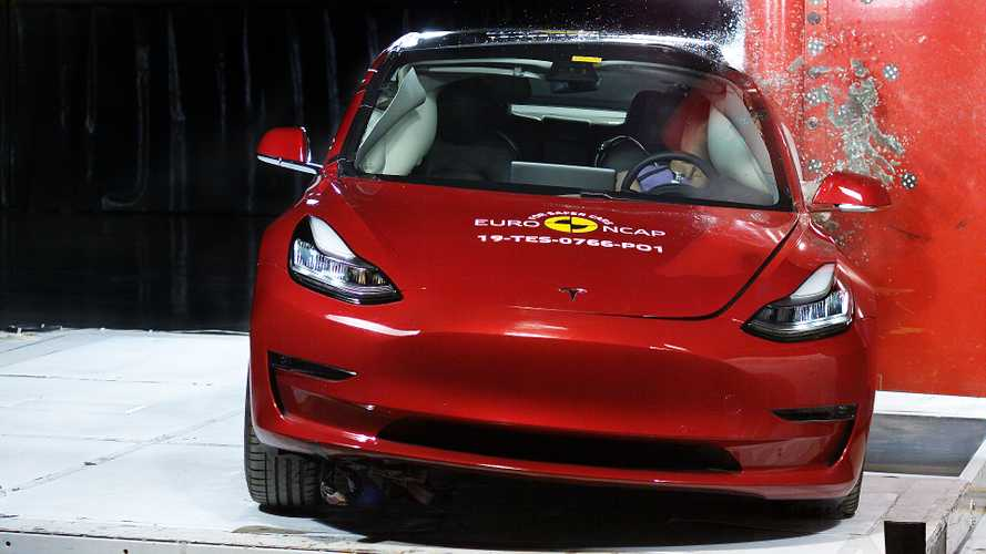 Tesla Model 3 (2019) im EuroNCAP-Crashtest