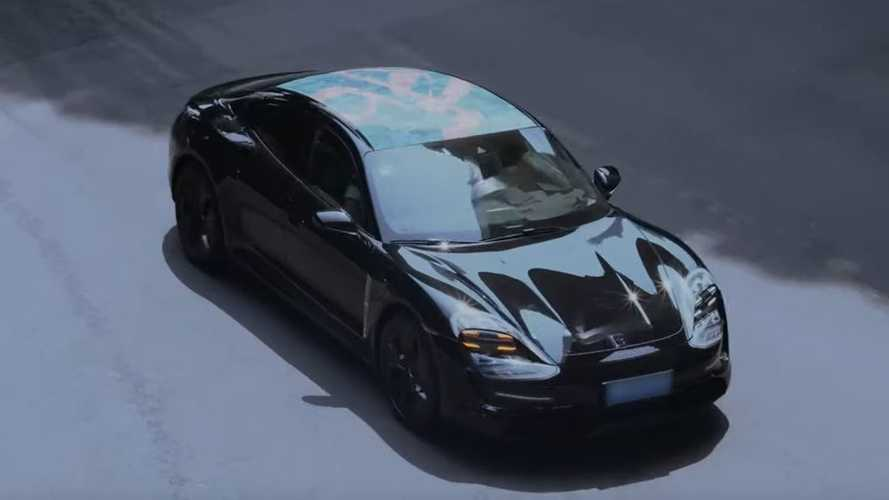 Porsche Taycan Prototype Spotted In Shanghai: Video