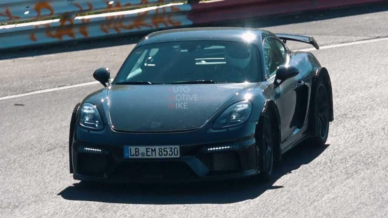 Porsche 718 Cayman GT4 Spy Video