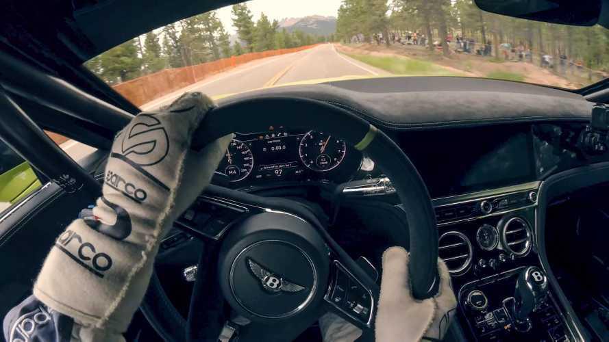 VIDÉO - Montez à bord de la Bentley Continental GT filant vers un record à Pikes Peak