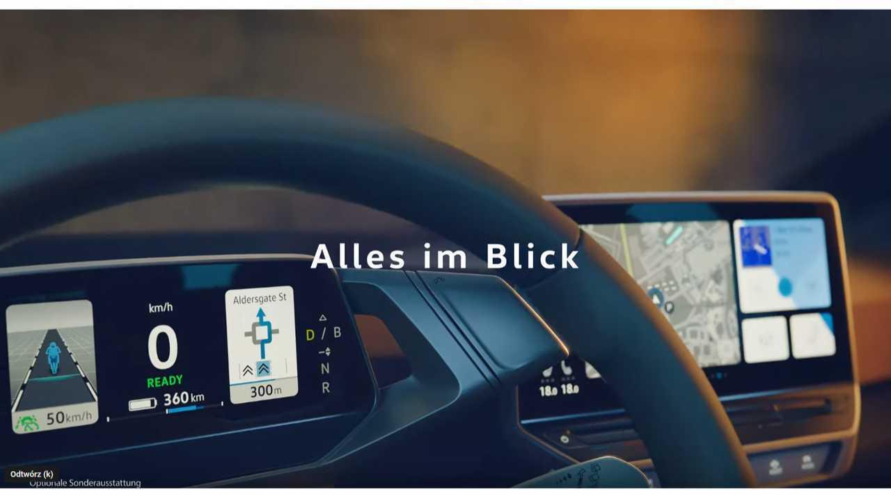 Volkswagen ID.3 gösterge tablosu teaser