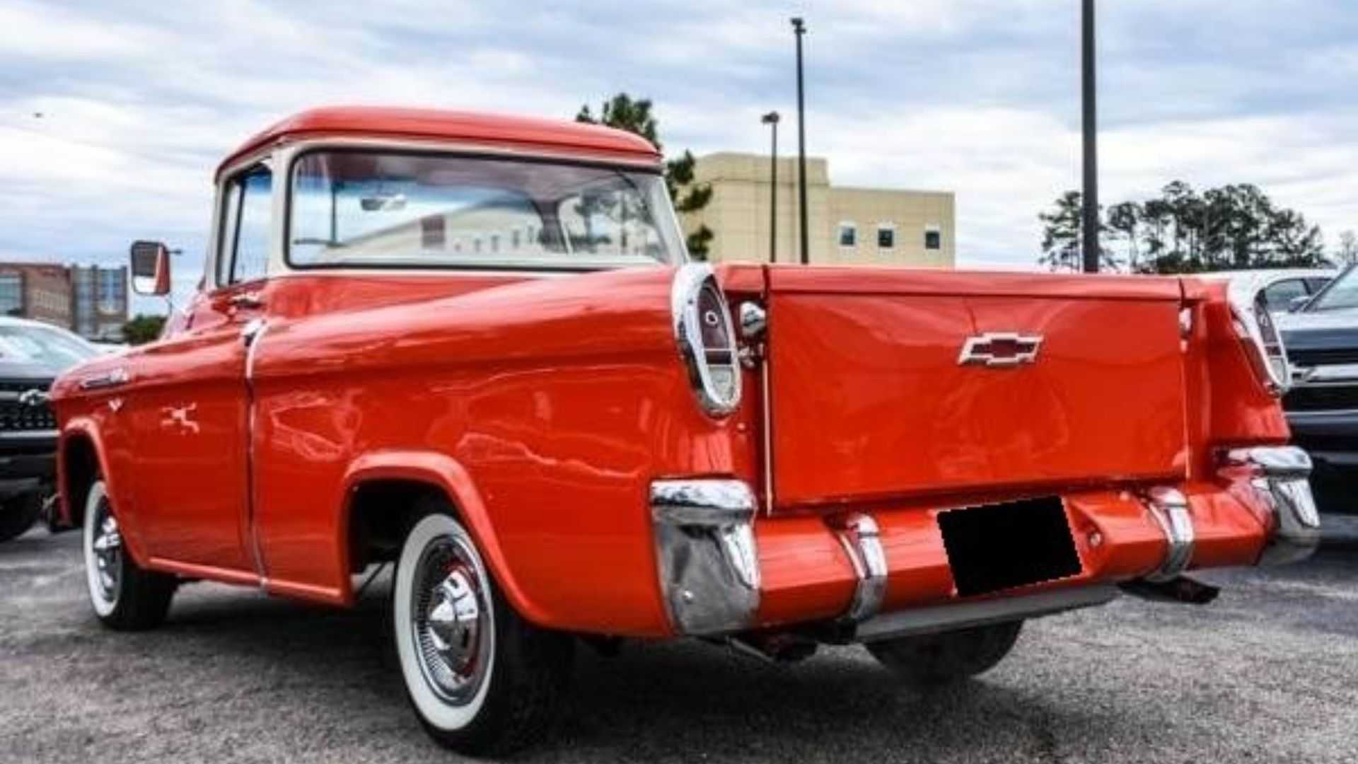 "[""Find Room In Your Garage For This Slick 1956 Chevy 3100 Cameo""]"