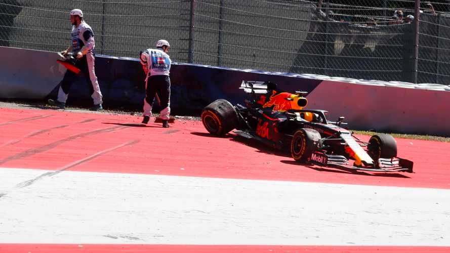 Verstappen blames wind for practice accident