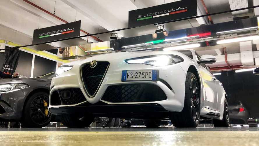 Alfa Romeo Giulia Quadrifoglio è l'auto a noleggio più potente d'Italia