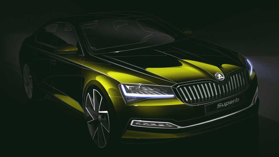 2020 Skoda Superb teased via design sketch