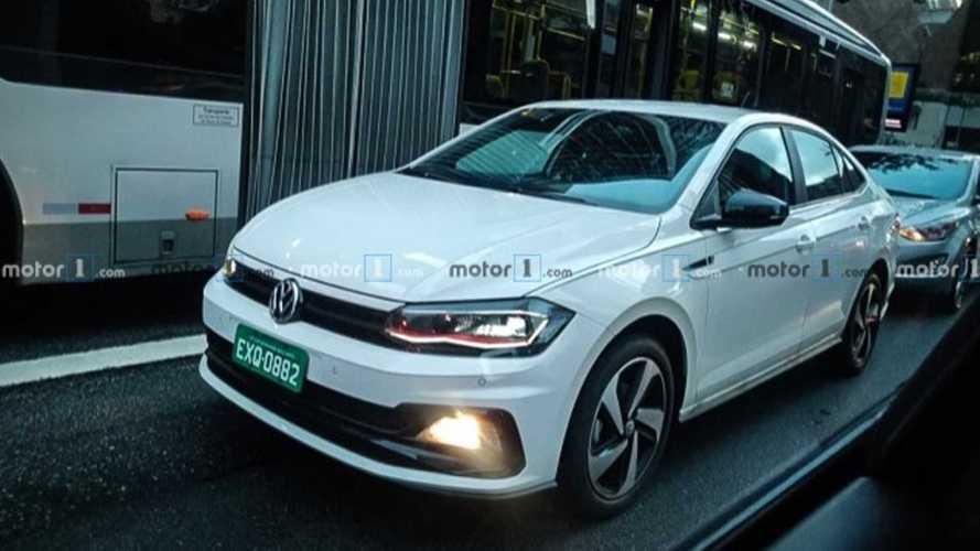 Flagra: VW Virtus GTS já roda na versão final em São Paulo