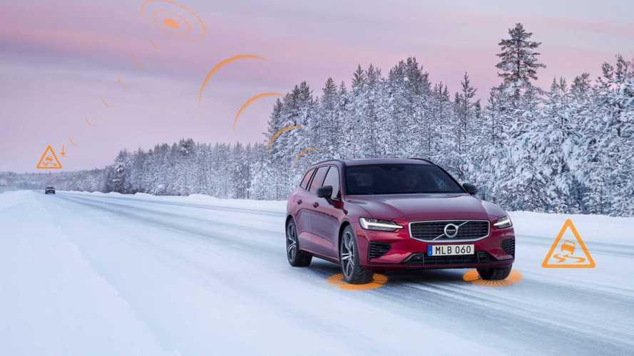 Volvos warnen sich nun gegenseitig vor Glatteis und Unfallstellen