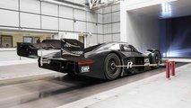 Volkswagen ID R testing DRS in wind tunnel