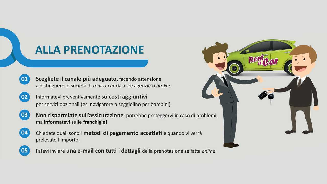 Noleggio auto, le regole utili da seguire