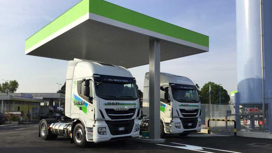 Nuovo distributore di metano liquido a Brescia