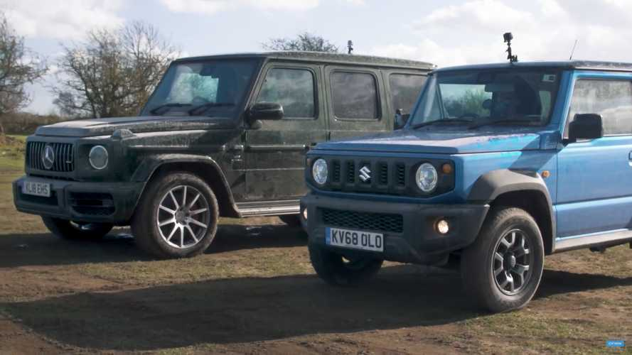 Watch Suzuki Jimny Duel Mercedes-AMG G63 In Off-Road Race