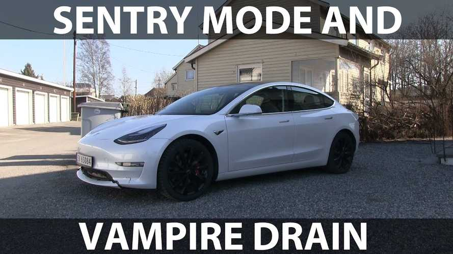 Tesla Sentry Mode Energy Consumption Test By Bjørn Nyland: Video