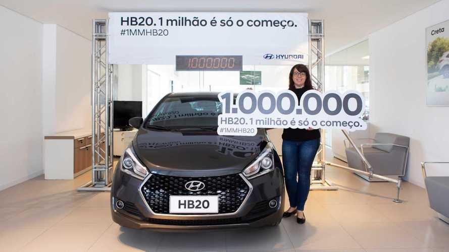 Hyundai HB20 chega a 1 milhão de unidades vendidas no Brasil