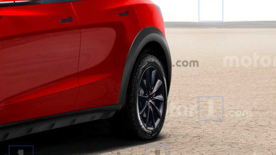 Tesla Model Y Off-Road Rendering