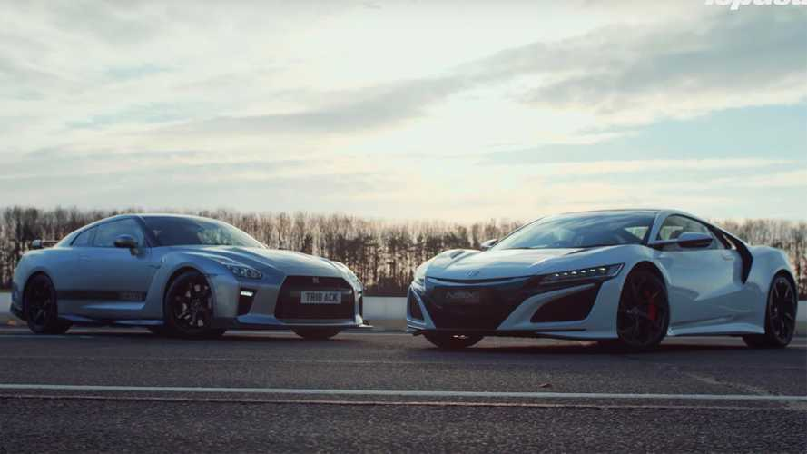 Acura NSX vs Litchfield-tuned Nissan GT-R in Top Gear drag race