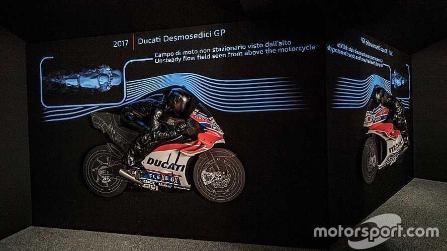 Ducati inaugura una galería sobre la aerodinámica en MotoGP