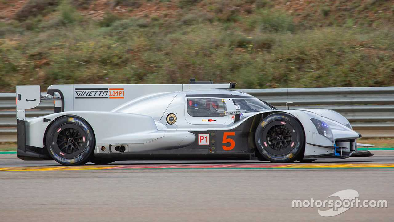 Ginetta G60-LT-P1 during Aragon private testing 2019