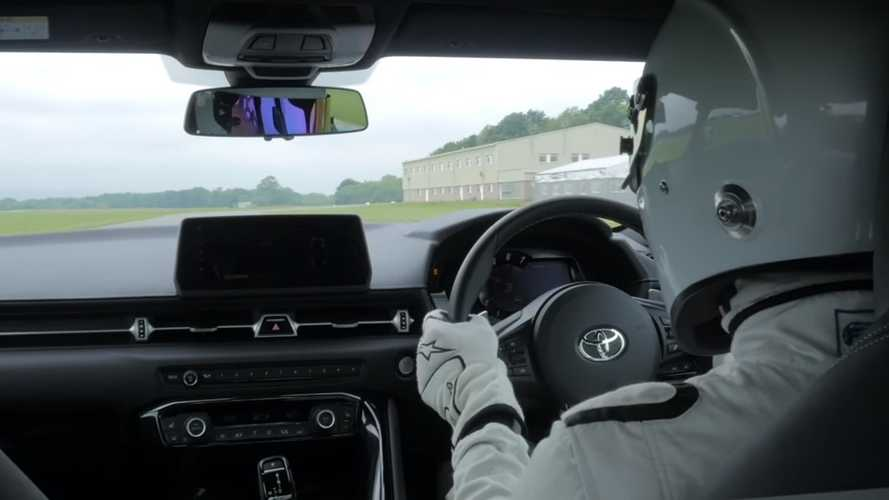 See the Stig lap Top Gear track in the new Toyota Supra