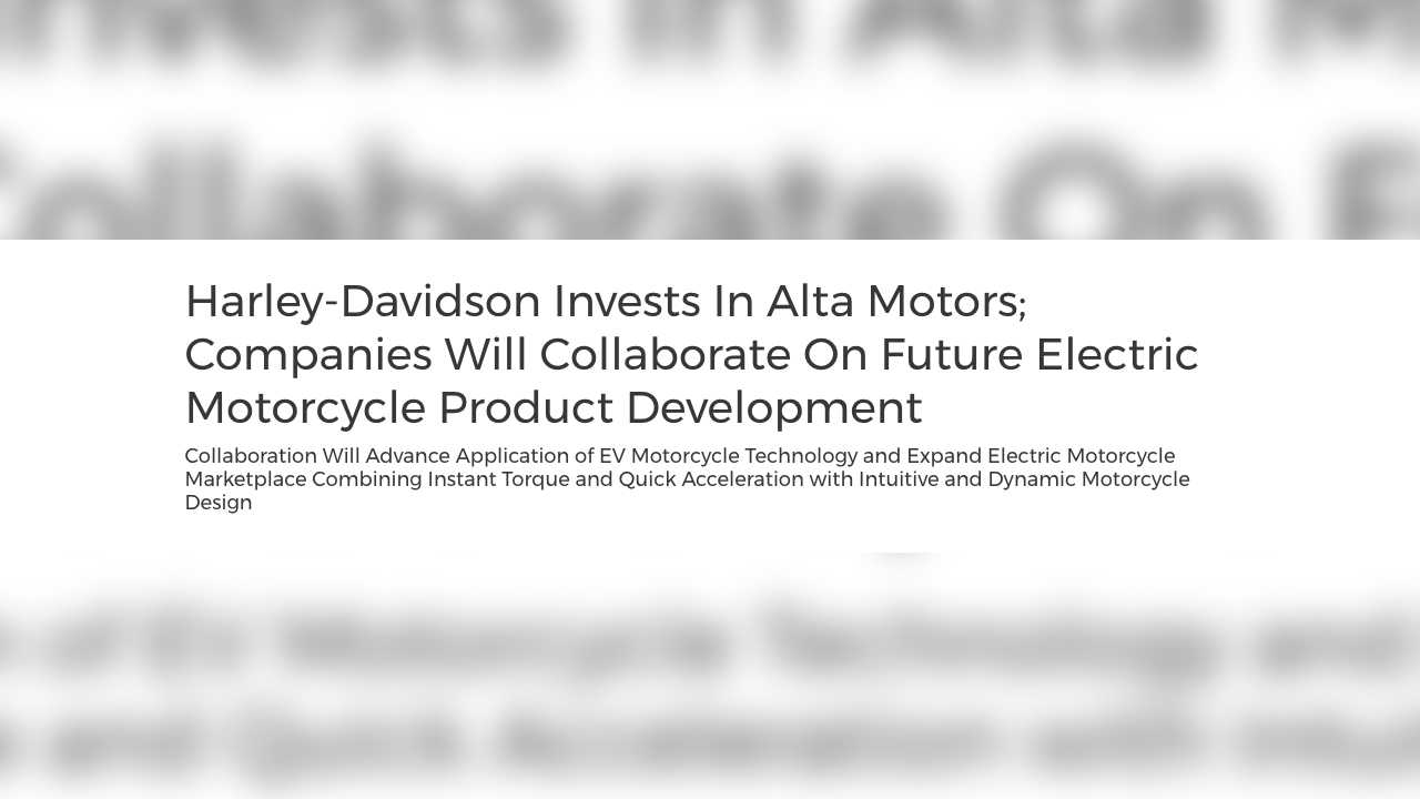 What happened to Alta Motors?