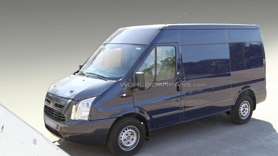 2012/2013 Ford Transit mule spied for the first time