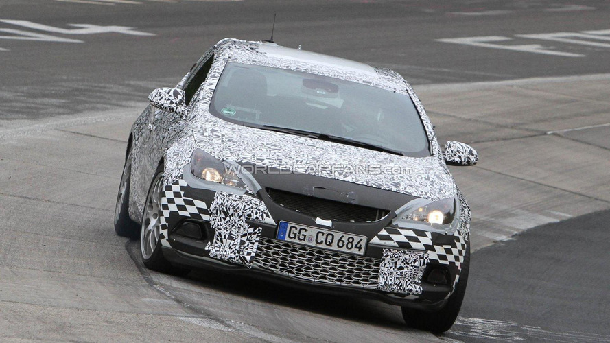 2012 Opel Astra OPC spied showing more