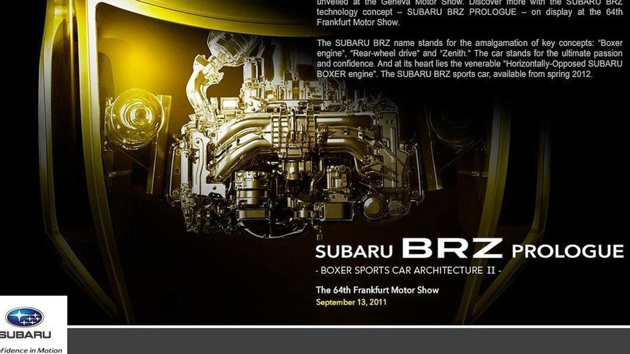 Subaru names its FT-86 the BRZ