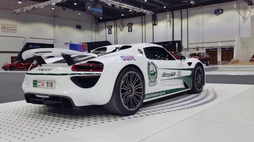 Porsche 918 Spyder police de Dubaï