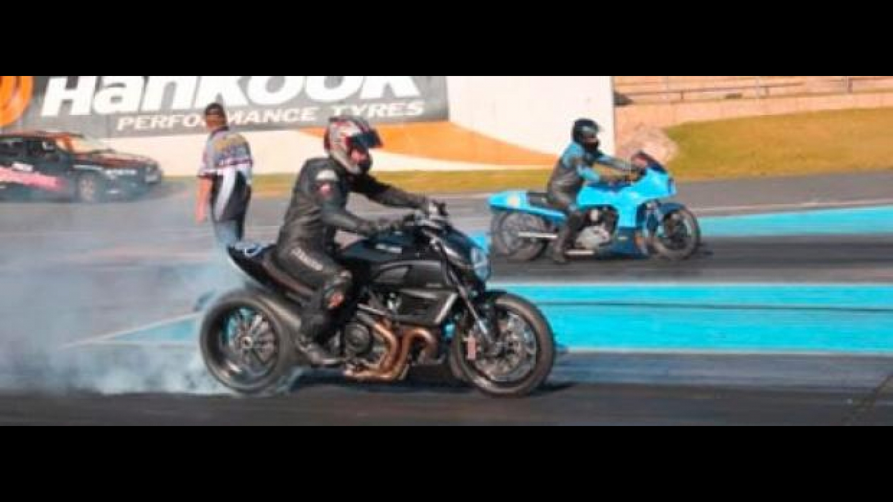 Ducati Diavel Drag Racing in Australia