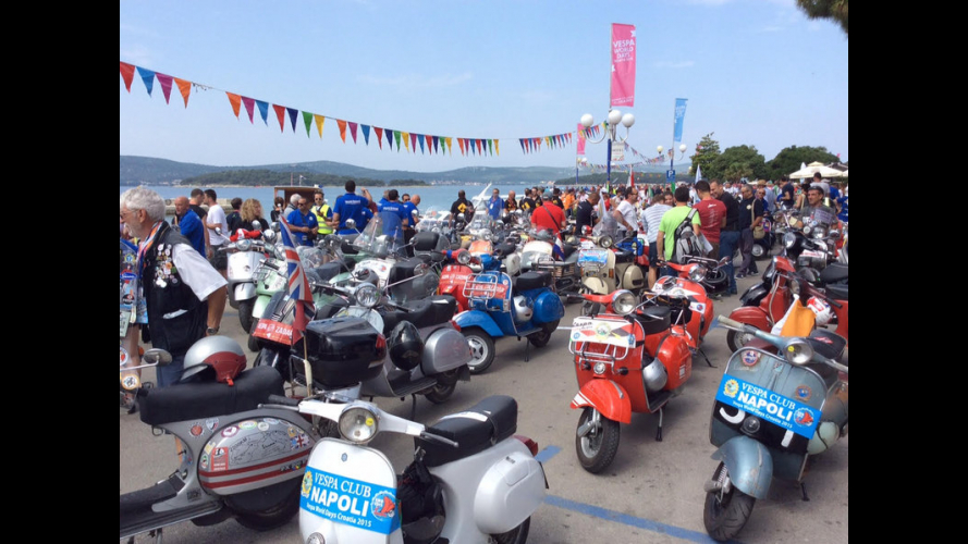 Vespa World Days 2015: in 5000 a Biograd