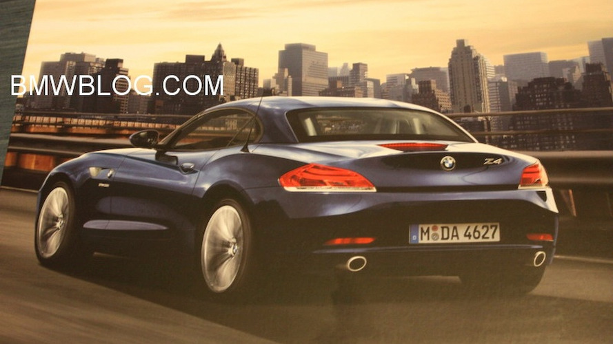 2010 BMW Z4 leaked brochure image reveals back side