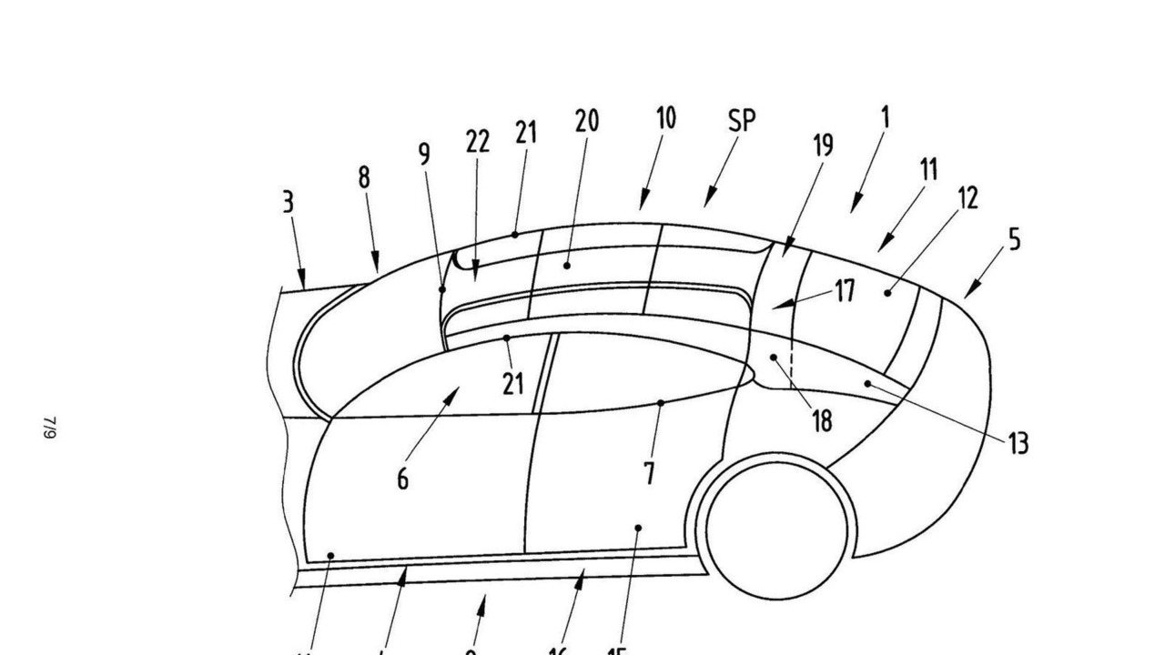 Porsche Panamera convertible Patent Drawing 15.03.2010