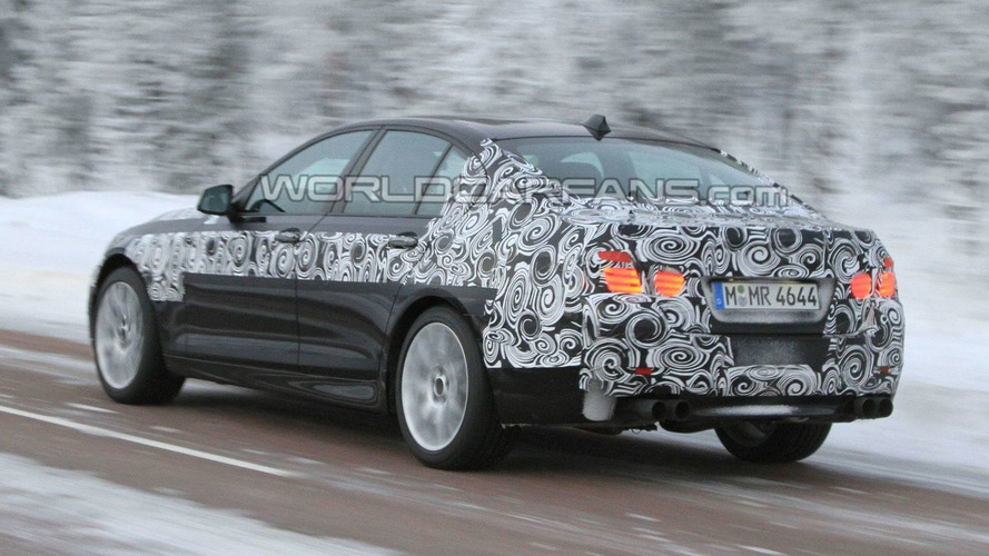 BMW M5 F10 Spied Winter Testing