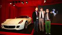 Michael Schumacher, Marco Mattiacci and artist Lu Hao with Ferrari 599 China