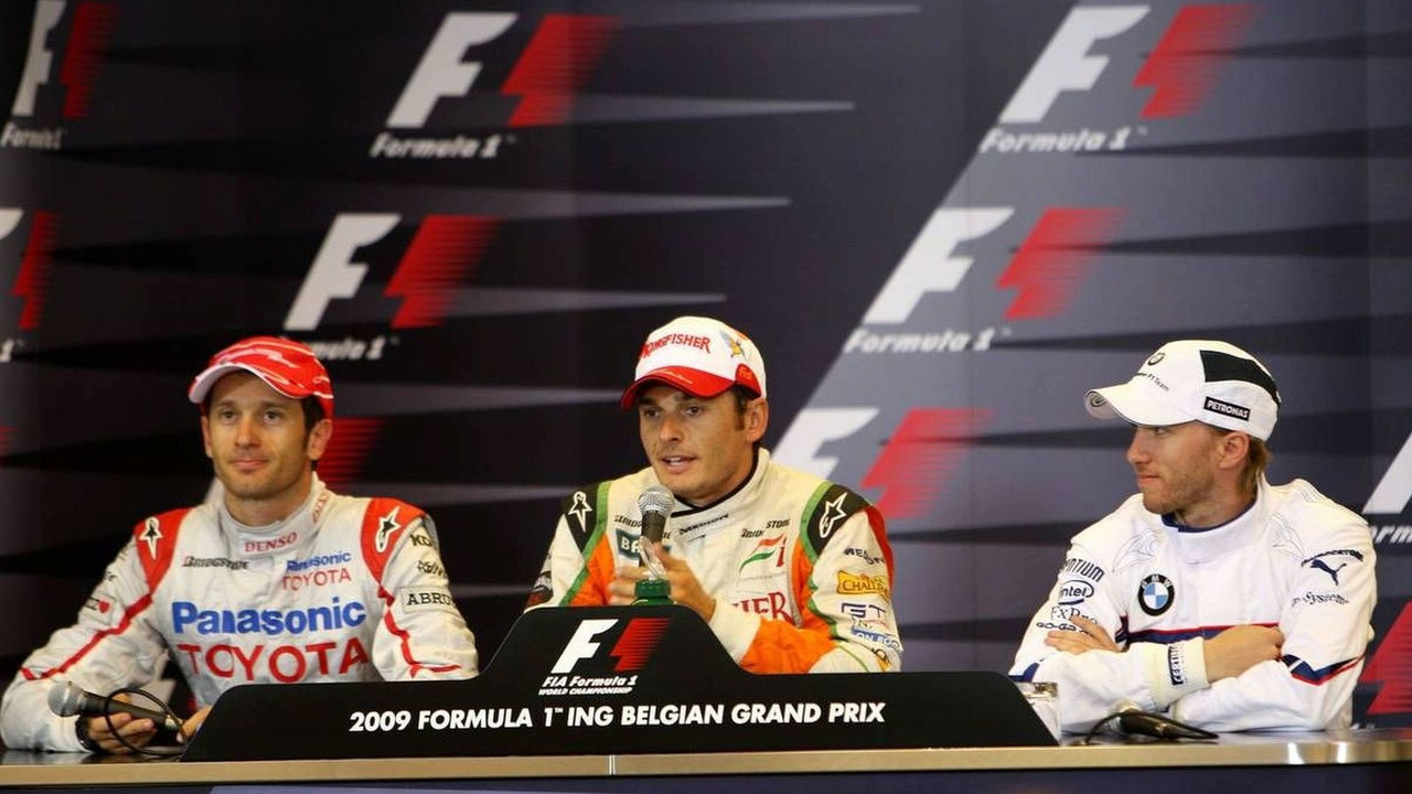 Jarno Trulli (ITA), Giancarlo Fisichella (ITA), Nick Heidfeld (GER), Belgian Grand Prix, Saturday Press Conference, Francorchamps, Belgium 29.08.2009