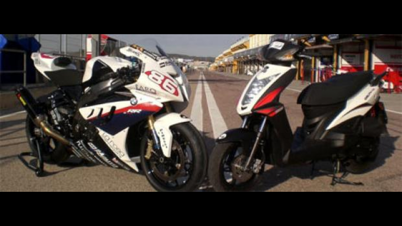 Kymco Agility RS scooter ufficiale del team BMW Superstock 2010