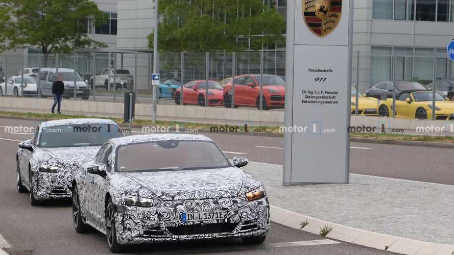 Audi e-tron GT в центре разработок Porsche